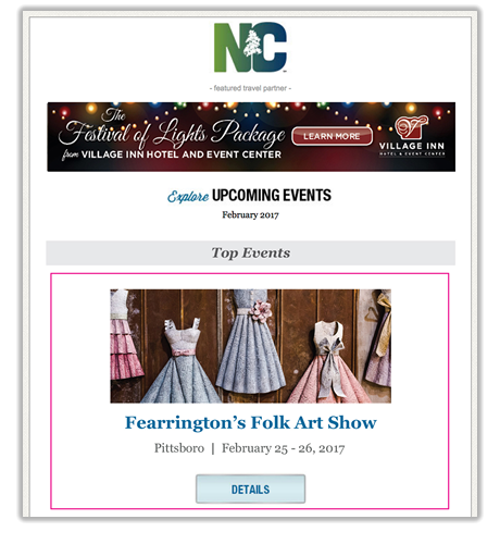 Featured Events E-newsletter Spotlights