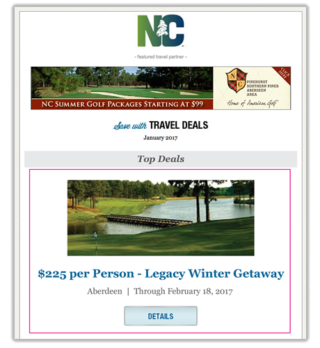 Travel Deal E-newsletter Spotlight